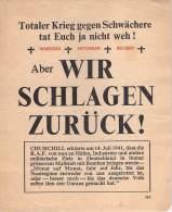WWII WW2 Propaganda Tract Leaflet Flugblatt, 519, Aber WIR SCHLAGEN ZURUCK!, FREE SHIPPING WORLDWIDE - Old Paper