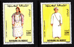 Morocco MNH Scott #711-#712 Set Of 2 Costumes Of Ouarzarzate - Maroc (1956-...)