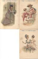"""LOTE DE 11 ALMANAQUES DE 1897-1898 Y 1904 """"TIENDA A LA CIUDAD DE LONDRES"""" SITA EN AVENIDA DE MAYO BUENOS AIRES ORIGINALS - Kalenders"""