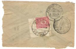 Afghanistan - 1930 - Fragment - Postes Afghanes 40 + Landikhana Indian Exchange Office Cds - Viaggiata Da Kaboul Per ... - Afghanistan