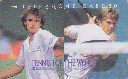 RARE Télécarte Japon / 110-76070 - Sport TENNIS - STEFA EDBERG - SWEDEN JAPAN Phonecard Telefonkarte - 307 - Characters