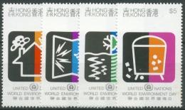 Hongkong 1990 Int. Tag Der Umwelt Luft- U. Wasserverschmutzung 591/94 Postfrisch - Hong Kong (...-1997)