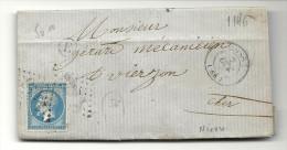 Nièvre - Cosne Pour Vierzon - GC + CàD Type 15 - 1849-1876: Classic Period