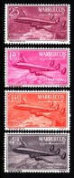 Morocco Northern Zone MNH Scott #C1-#C4 Set Of 4 Plane Over Lau Dam - Maroc (1956-...)