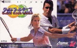 Rare Télécarte Japon Sport - TENNIS - Chris EVERT & Ivan LENDL / Czech Republic & USA Rel. Japan Phonecard - 310 - Personnages