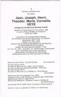 VLAMERTINGE - ANDERLECHT  - Doodsprentje Van Jean-Joseph VEYS (Directeur Vice-Gouverneur Van BRABANT) + 1988 - Religion & Esotérisme