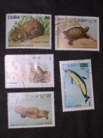 CUBA     1982-4   LOT# 38  ( MARINE) FAUNA - Cuba