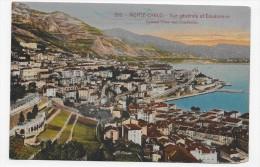 (RECTO / VERSO) MONTE CARLO EN 1921 - N° 809 - VUE GENERALE ET CONDAMINE - CACHET ET TIMBRE DE MONACO - CPA - La Condamine
