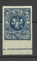 LITAUEN Lithuania 1919 Michel 52 U * - Lithuania