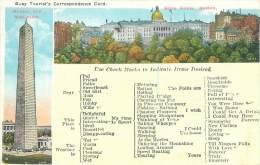 BOSTON - Busy Tourist's Correspondence Card - Boston