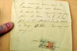 """Quittance Manuscrite """"Monsieur Paris"""", Saint Michel De La Forêt - Orne, 1915 - 1900 – 1949"""