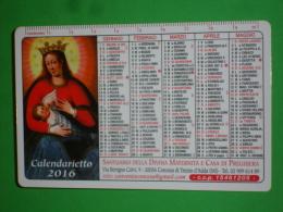 DIVINA MATERNITA´Madonna LATTE Allatta/Santuario CONCESA /TREZZO ADDA,,Milano/Carmelitani Scalzi/calendarietto Anno 2016 - Calendarios