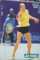 Carte Prépayée Japon - Sport - TENNIS - ANNA KOURNIKOVA / RUSSIA Rel. Japan Prepaid Card Quo Karte - 331 - Characters