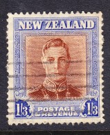 New Zealand 1947 Geo V1 - 1s3d  Plate 2  - Fine Used - New Zealand