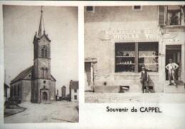 SOUVENIR DE CAPPEL 57 - Boulangerie Epicerie Nicolas THIL REPRODUCTION Photo (10x15cm) - X-3 - Reproductions