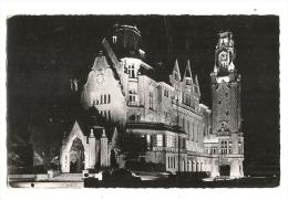 Cp, 62, Le Touquet Paris Plage, Illumination De L'Hôtel De Ville - Le Touquet
