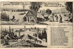 AK Neuhammer, Station Koberbrunn, Spezial-Institut Für Fettsüchtige, Sanatorium-Sonnenbad   2 Scan - Schlesien