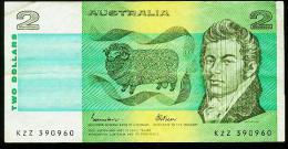 AUSTRALIA $2.DOLLARS P-43E 1985 NOTE IN A NICE HIGH GRADE CONDITION. NO TEARS, PINHOLES OR GRAFFITI. - Moneta Locale
