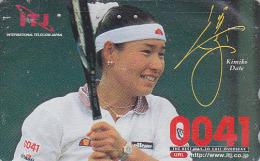 Télécarte Japon-  Sport - TENNIS - KIMIKO DATE KRUMM / Tel 0041 - Japan Phonecard ANA Aviation / Germany Rel - Avion 359 - Avions
