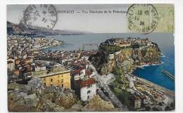 (RECTO / VERSO) MONACO EN 1924 - N° 214 - VUE GENERALE - CACHET ET TIMBRE DE MONACO - CPA - Monaco