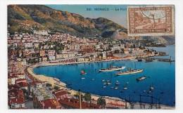 (RECTO / VERSO) MONACO EN 1934 - N° 310 - LE PORT - CACHET ET TIMBRE DE MONACO - CPA - Puerto