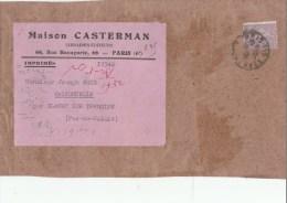 SEMEUSE 45C N° 197 SUR DEVANT D IMPRIME CASTERMAN PARIS 1932  POUR MAISONCELLE               TDA99 - Postmark Collection (Covers)