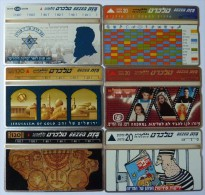 ISRAEL - L&G - Bezeq - Group Of 6 Cards -  Mint - Israel