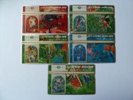 ISRAEL - L&G - Bezeq - Group Of 5 Cards -  Marc Chagall - Mint - Israël
