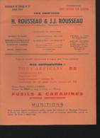 Catalogue  ROUSSEAU (chasse Armes Et Ustensiles) ( 1975) (CAT 052) - France