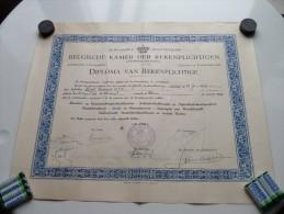Belgische Kamer Der Rekenplichtige DIPLOMA Antwerpen ( Voet Lodewijk ) Anno 1946 ( Details Zie Foto ) ! - Diploma & School Reports