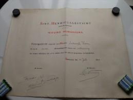 SINT-HENRICUSGESTICHT Nieuwe Humaniora Getuigschrift Antwerpen ( Voet Lodewijk ) Anno 1935 ( Details Zie Foto ) ! - Diploma & School Reports