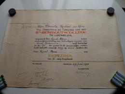 St. ROMBOUTSCOLLEGE Te MECHELEN ( Karel MEES ) Oude Humaniora DIPLOMA Anno 1958 ( Details Zie Foto ) ! - Diplômes & Bulletins Scolaires