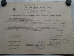 Technisch INSTITUUT Hoogstraat MECHELEN ( LAMMAR Marie-Louise ) Getuigschrift Anno 1956 ( Details Zie Foto ) ! - Diploma & School Reports