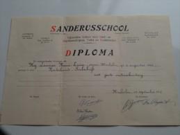 SANDERUSSCHOOL ( LAMMAR Marie-Louise ) DIPLOMA Mechelen Snelschrift Anno 1957 ( Details Zie Foto ) ! - Diplômes & Bulletins Scolaires
