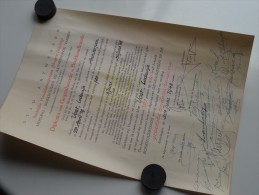 Stedelijke HANDELSLEERGANGEN ( VOET Lodewijk ) DIPLOMA Antwerpen Anno 1948 ( Details Zie Foto ) ! - Diploma & School Reports