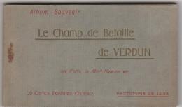 CPA  - 55 -  20 Cartes De VERDUN Et Environs Dans Son Carnet, édition Nouvelles Galeries - 002 - Verdun