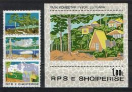 Albania 1980  National Parks  ,MNH  , Mi. 2067-2069 / + Block 71 - Albanie