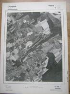 GRAND PHOTO VUE AERIENNE 66 Cm X 48 Cm De 1979  CLAVIER OCQUIER - Mapas Topográficas