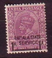 PGL - BRITISH COLONIES PATIALA SERVICE Yv N°59 ** - Patiala