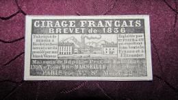 """CIRAGE FRANCAIS - DUBOIS / Ets PIAUD & Cie -RIVE-de-GIER - PETITE PUBLICITE DE 1842 - ISSUE DU JOURNAL """" LE NATIONAL """" . - Advertising"""