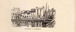 1888 - Gravure Sur Bois - Paimbœuf (Loire-Atlantique) - Le Quai - FRANCO DE PORT - Stampe & Incisioni