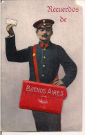 ARGENTINE CARTE A SYSTEME RARE RECUERDOS DE BUENOS AIRES FACTEUR - Argentine