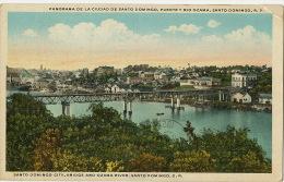 Santo Domingo Puente Y Rio Ozama Used 1928 To Cuba  Edit Lucas Trias Castaner - Dominicaine (République)