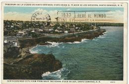 Santo Domingo Desde El Placer De Los Estudios Used 1934 To Cuba  Edit Lucas Trias Castaner - Dominicaine (République)
