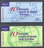EUROPA-CEPT 1995 - Islande - 2 Carnets Complet Avec 10 V NEUF ** (MNH) - 1995