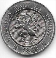 *Belguim Leopold I  10 Centimes 1863  Xf - 1831-1865: Léopold I
