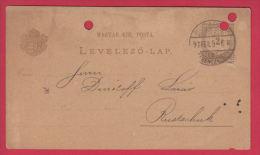 202923 / 1897 - 3 F. - Dr. EUGEN & EMIL V. WAGNER , BUDAPEST - Rustschuk  ROUSSE BULGARIA ,  Stationery Hungary - Postal Stationery
