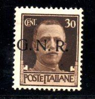 W494 - R.S.I. 1944 , 30 Cent N. 475  * . GNR - 4. 1944-45 Social Republic