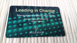 Sratch & Phone Leading In Change Casino Oostende  Used 2 Scans Very Rare - [2] Prepaid & Refill Cards