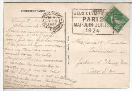 FRANCIA PARIS TP CON MAT JUEGOS OLIMPICOS DE 1924 DEPORTE MAT PLACE CHOPIN - Verano 1924: Paris